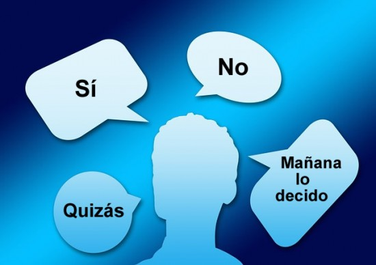 Persona decidiendo