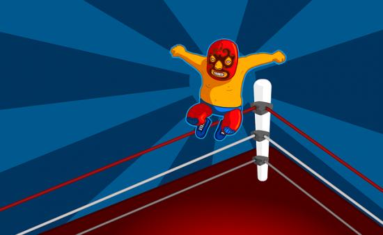 Luchador saltando
